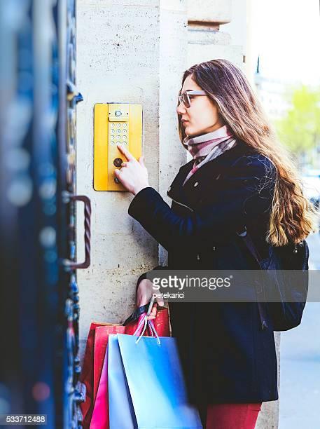 Entering keycode