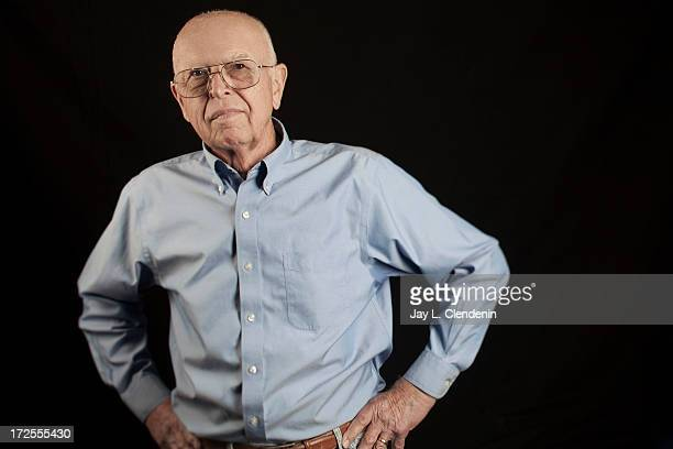 Enterpreneur and founder of grocery store Trader Joe's Joe Coulombe is photographed at his home in Pasadena California for Los Angeles Times on April...