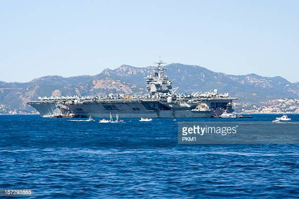 uss enterprise aircraft carrier - navy ship stock pictures, royalty-free photos & images