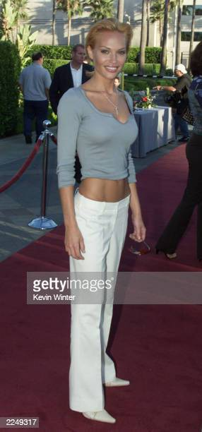 'Enterprise's' Jolene Blalock at UPN's summer tour party for the Television Critics Association at Paramount Studios in Los Angeles Ca 7/16/01 Photo...