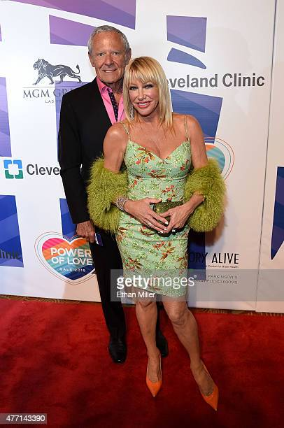 Entertainer Alan Hamel and actress/author Suzanne Somers attend the 19th annual Keep Memory Alive 'Power of Love Gala' benefit for the Cleveland...
