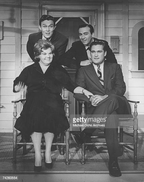 Entertainer and businessman Jimmy Dean Eileen Farrell Faron Young and Charlie Rich on 'The Jimmy Dean Show' in 1964