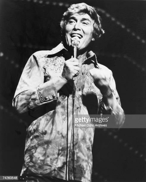 Entertainer and businessman Jimmy Dean performs onstage in circa 1975