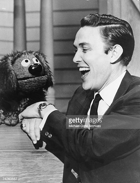 Entertainer and businessman Jimmy Dean with one of Jim Henson's first puppets on The Jimmy Dean Show in 1963