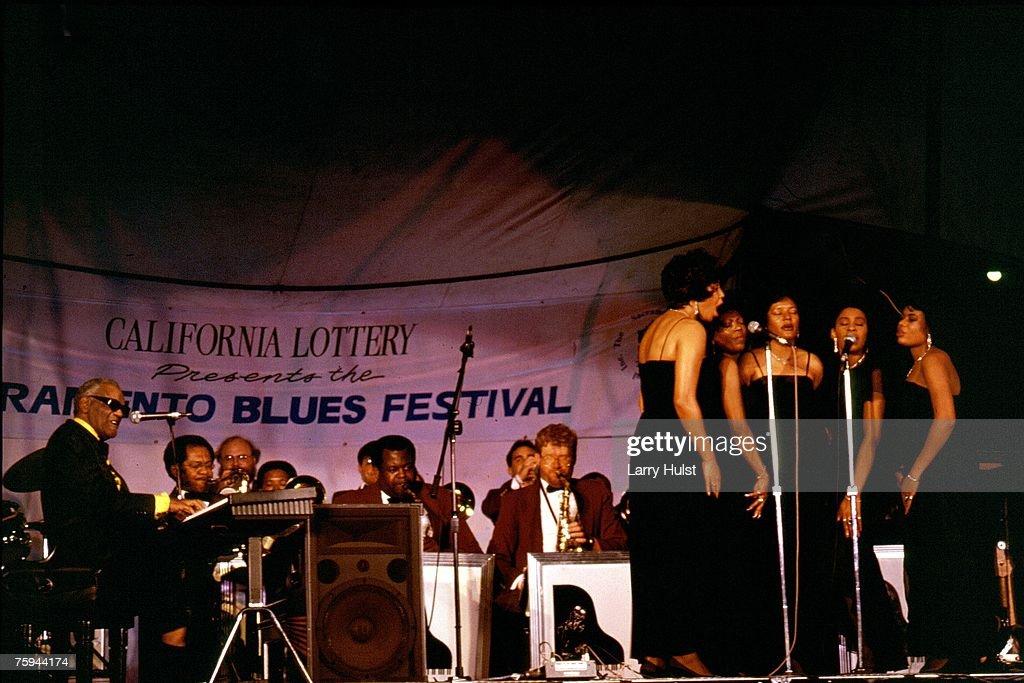 Ray Performing At The Sacramento Blues Festival : News Photo