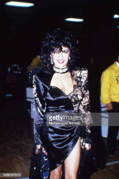 Entertainer Apollonia Kotero attends an event in February 1985 in Los Angeles California