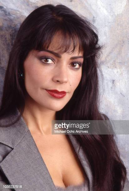 Entertainer Apollonia Kotero poses for a portrait session in 1988 in Los Angeles California