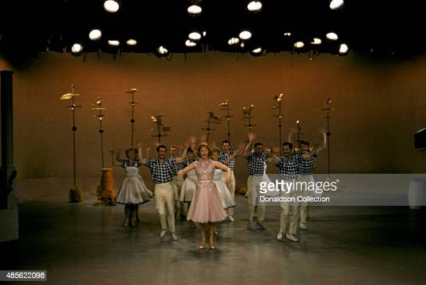Entertainer Audrey Meadows on the TV show 'Perry Como's Kraft Music Hall' in New York