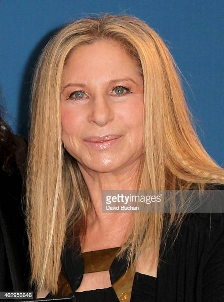 Entertainer Barbra Streisand poses in the press room at the 67th Annual Directors Guild Of America Awards at the Hyatt Regency Century Plaza on...