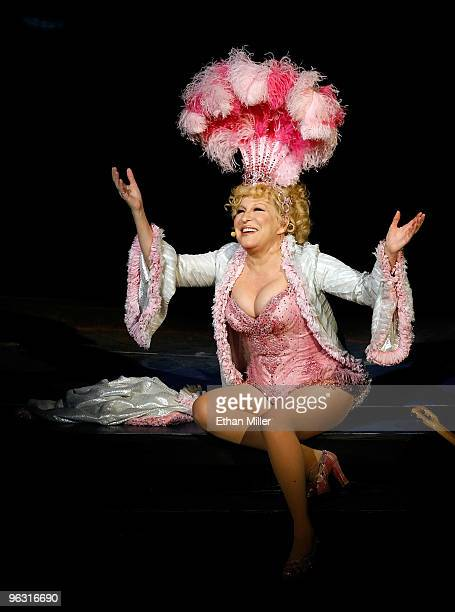 Entertainer Bette Midler performs during the final performance of her show The Showgirl Must Go On at The Colosseum at Caesars Palace January 31 2010...