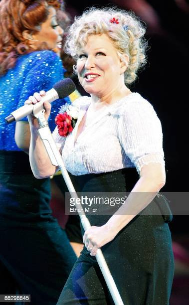 Entertainer Bette Midler sings during the 100th performance of her show The Showgirl Must Go On at The Colosseum at Caesars Palace June 7 2009 in Las...