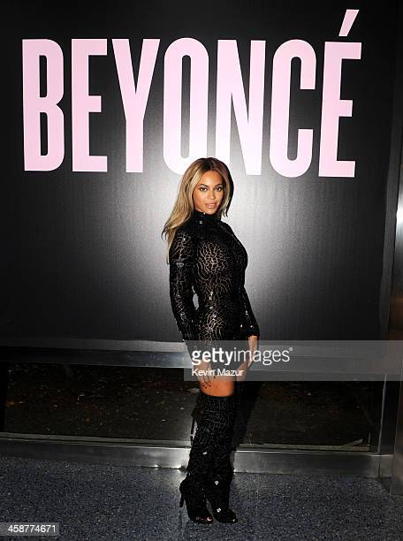 "Entertainer Beyonce attends a release party and screening for her new self-titled album ""Beyonce"" at the School of Visual Arts Theater on December..."