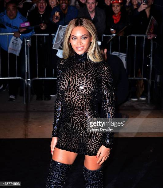 Entertainer Beyonce attends a release party and screening for her new selftitled album Beyonce at the School of Visual Arts Theater on December 21...
