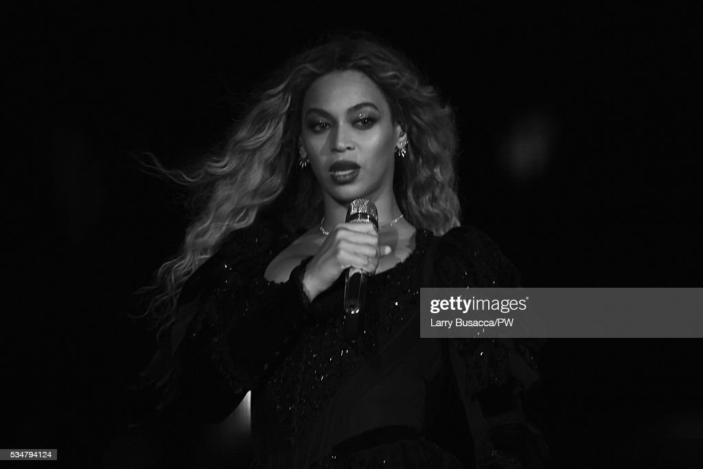 Entertainer Beyonce on stage during 'The Formation World Tour' at Soldier Field on May 27, 2016 in Chicago, Illinois.