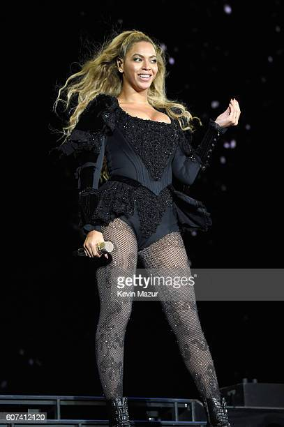 """Entertainer Beyonce performs on stage during """"The Formation World Tour"""" at Levi's Stadium on September 17, 2016 in Santa Clara, California."""