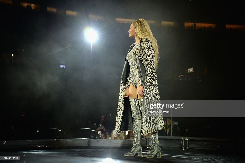 Entertainer Beyonce performs on stage during