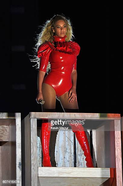 Entertainer Beyonce performs on stage during The Formation World Tour at Levi's Stadium on September 17 2016 in Santa Clara California