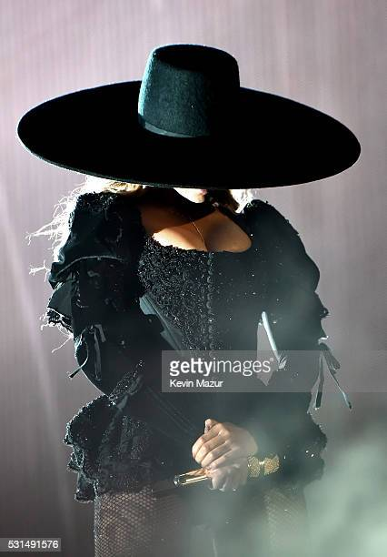 """Entertainer Beyonce performs onstage during """"The Formation World Tour"""" at the Rose Bowl on May 14, 2016 in Pasadena, California."""