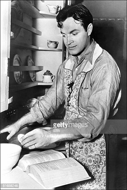 US entertainer Bob Hope shown in file photo dated 05 December 1938 cooking in Hollywood