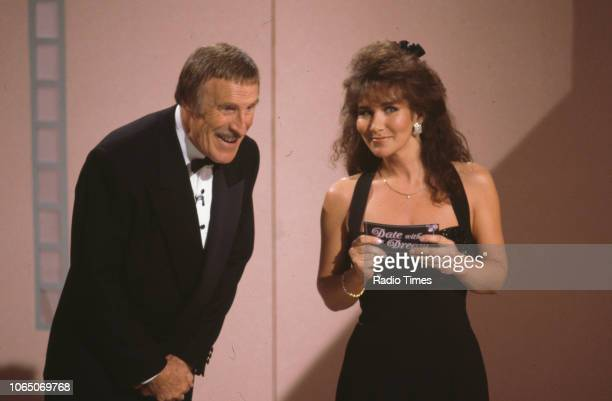 Entertainer Bruce Forsyth and model Linda Lusardi presenting the BBC television show 'Bruce Foryth's Easter Show' February 26th 1991