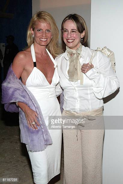 Entertainer Cecilia Bolocco and designer Sylvia Tcherassi attend the new Sylvia Tcherassi collection at The Mir Foundation Fashion Show and Gala At...