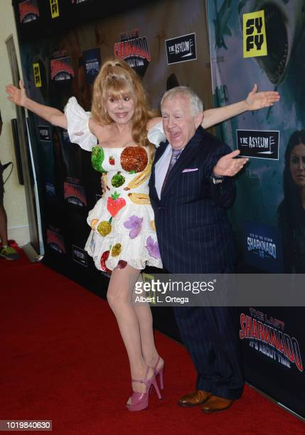 Entertainer Charo and actor Leslie Jordan arrive for the Premiere Of The Asylum And Syfy's 'The Last Sharknado It's About Time' held at Cinemark...