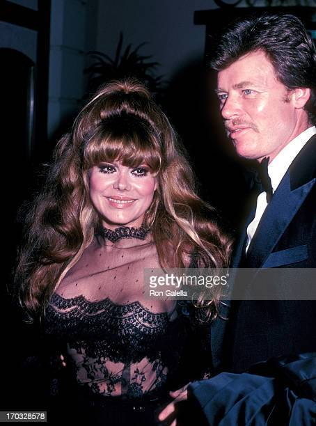 Entertainer Charo and husband Kjell Rasten attend Mavis Nabors' Birthday Party Hosted by Jim Nabors on February 6 1983 at the Crystal Room Beverly...
