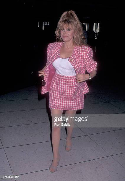 Entertainer Charo departs for Miami Florida on September 5 1996 from the Los Angeles International Airport in Los Angeles California