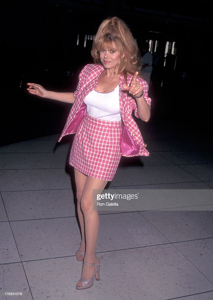 Charo and husband Kjell Rasten depart for Miami, Flordia from the Los Angeles International Airport : News Photo