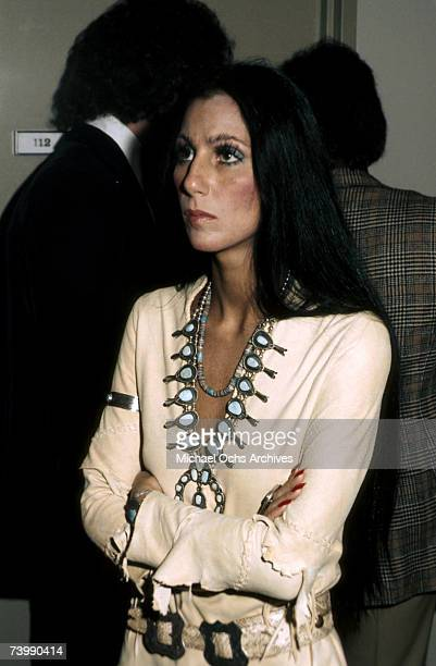 Entertainer Cher attends an event in circa 1974