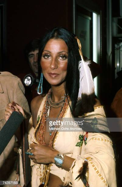 Entertainer Cher attends an event in circa 1976