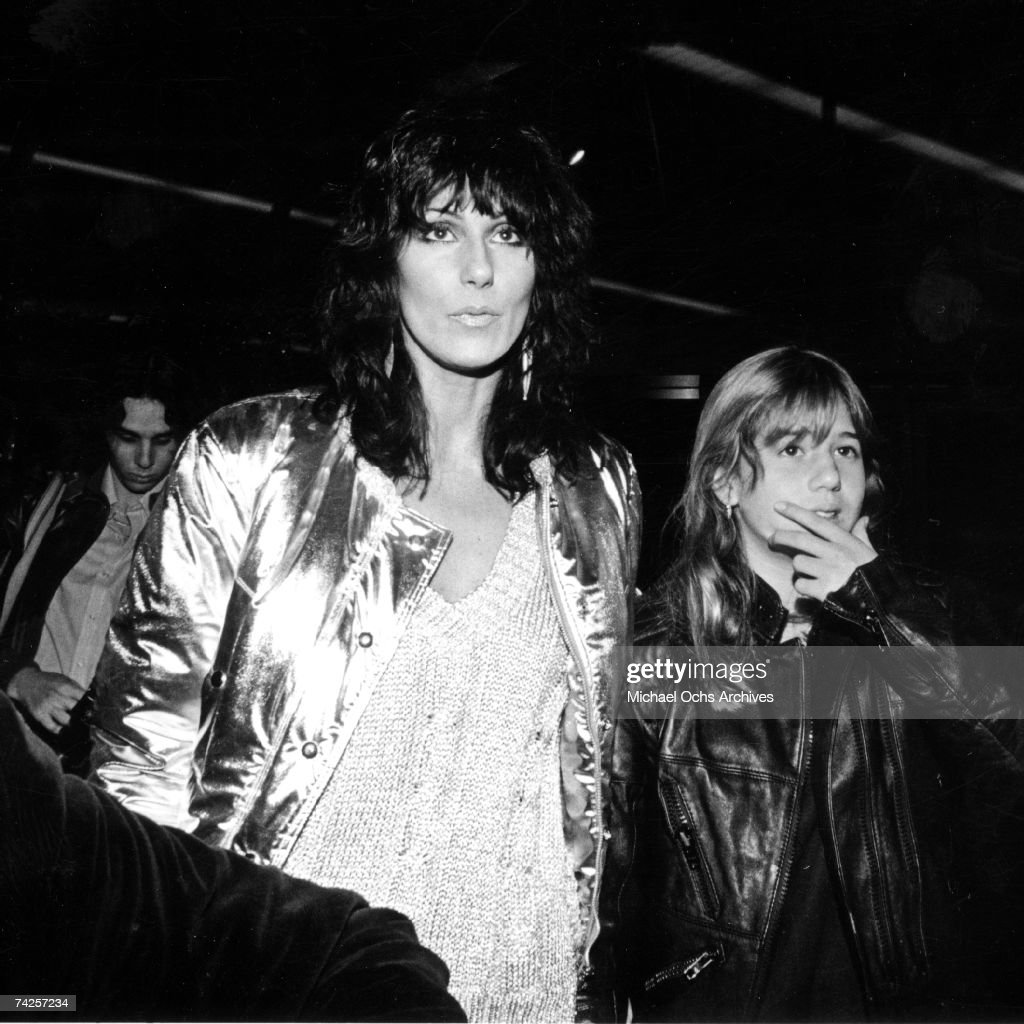 Entertainer Cher attends an event with her daughter Chastity Bono in circa 1984.