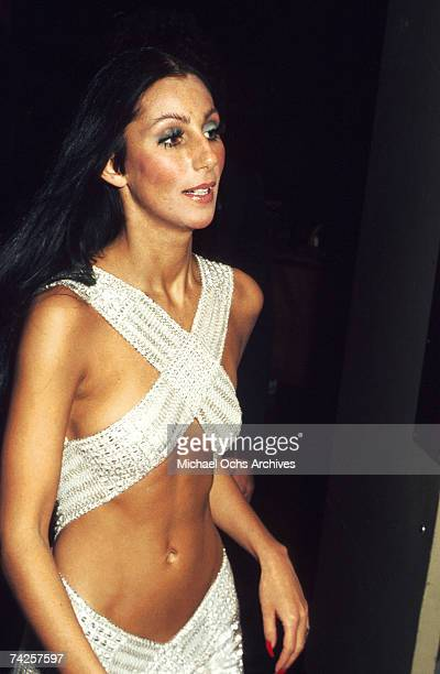 Entertainer Cher attends the Rock Music Awards at the Santa Monica Civic Auditorium on August 9 1975 in Los Angeles California