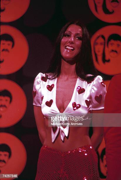 Entertainer Cher performs on 'The Sonny Cher Comedy Hour' in January 1974 in Los Angeles California