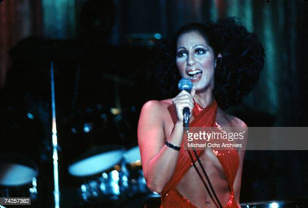 Entertainer Cher performs onstage in circa 1972