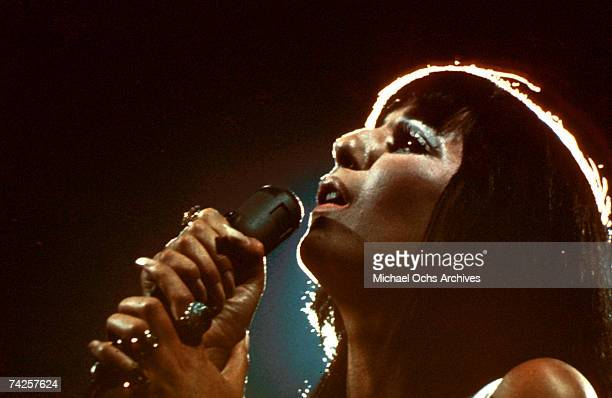 Entertainer Cher performs onstage in circa 1973