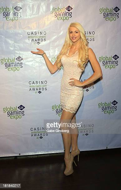 Entertainer Chloe Louise Crawford arrives at the Casino Entertainment Awards at G2E at the Plaza Hotel Casino on September 25 2013 in Las Vegas Nevada