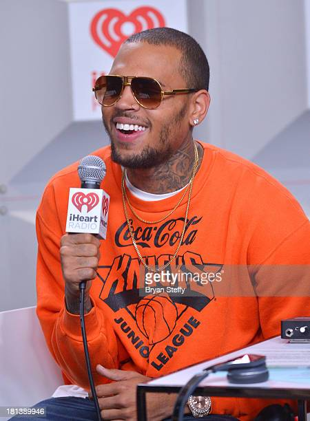 Entertainer Chris Brown attends the iHeartRadio Music Festival at the MGM Grand Garden Arena on September 20 2013 in Las Vegas Nevada