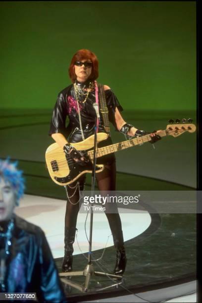 Entertainer Cilla Black dressed as a punk rocker, circa 1978.