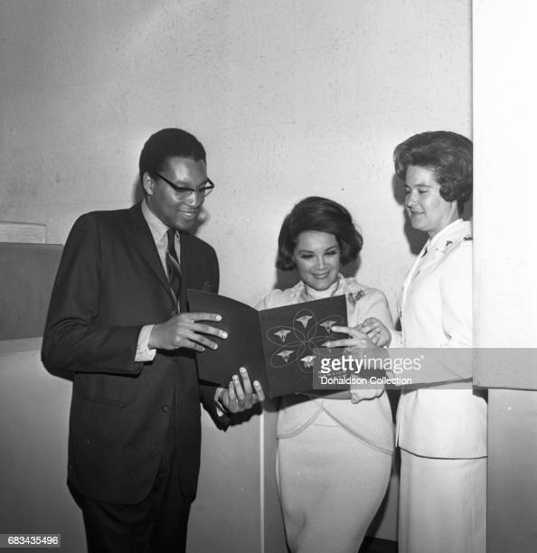Entertainer Connie Francis recording with producer Tom Wilson and Nurse A on May 31 1966 in New York