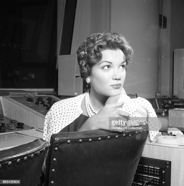 Entertainer Connie Francis records in the studio with producer Ray Ellis at MGM on July 10 1959 in New York