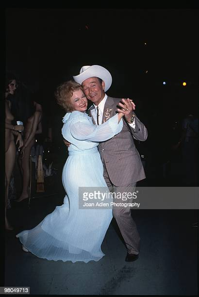 Entertainer Dale Evans and her husband Roy Rogers at the taping of the Barbara Mandrell show where they celebrated their 50th anniversary in show...