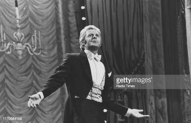 Entertainer Danny La Rue on stage for the BBC television show 'The Good Old Days' January 29th 1976