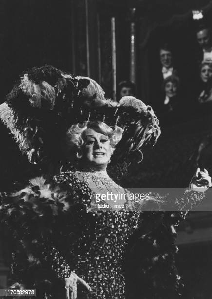 Entertainer Danny La Rue performing on the BBC television show 'The Good Old Days' March 1983