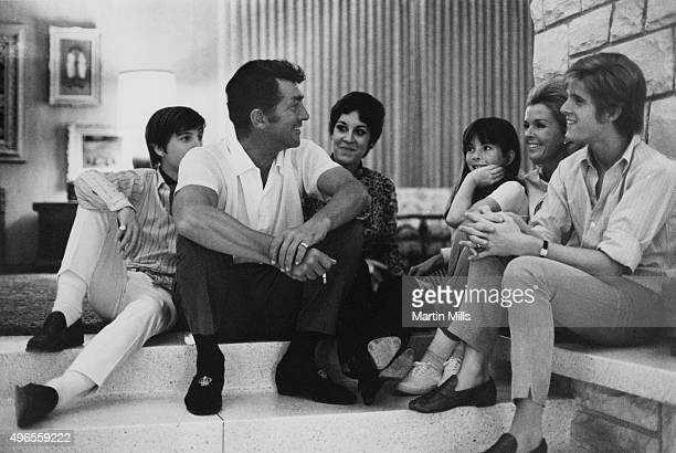 Entertainer Dean Martin with his wife Jeanne and children pose for a family portrait in 1966 in Los Angeles, California.