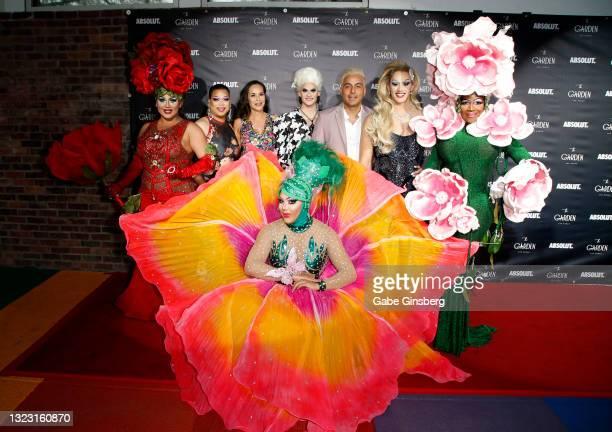 "Entertainer Des'Ree D. St. James, Victoria Mateo, The Garden Las Vegas co-owner Edith Castillo,""RuPaul's Drag Race"" season 13 contestant Elliott with..."