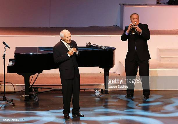 Entertainer Dick Williams attends a memorial service for his brother entertainer Andy Williams on October 21 2012 in Branson Missouri Williams died...