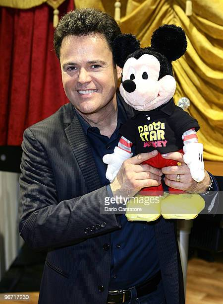 Entertainer Donny Osmond introduces 'Dance Star Mickey' at the Mattel Inc Showroom on February 15 2010 in New York City