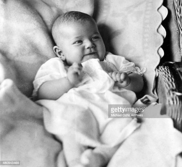 Entertainer Doris Day poses for a portrait as a baby in 1922