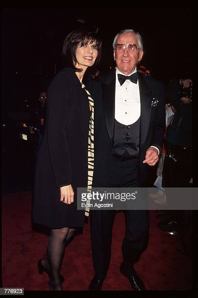 Entertainer Ed McMahon and his wife Pam arrive at an American Foundation for AIDS Research benefit May 8 1996 in New York City Cartier hosted a...